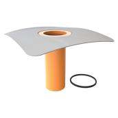 Надставной элемент для кровельных воронок TOPWET TWN v300 PVC с приваренным фартуком 100 мм