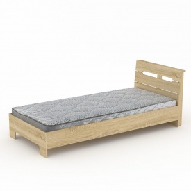 Односпальная кровать-90 Стиль Компанит 2133х944х766 мм дсп дуб-сонома