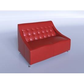Офісний диван Sentenzo Поліс 1380х880х820 мм червоний