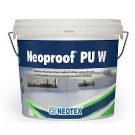 Полиуретановая гидроизоляционная смесь Neotex Neoproof PU W -40 13 кг белая (RAL 9003)