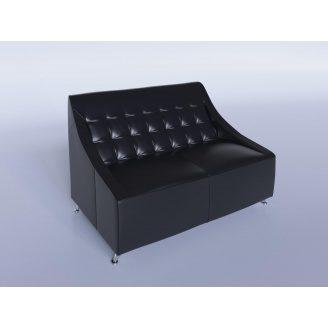 Офісний диван Sentenzo Поліс 1380х880х820 мм чорний