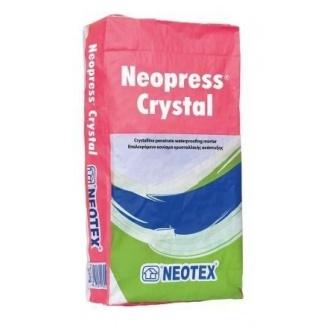 Гидроизоляционная смесь Neotex Neopress Crystal цементная 25 кг серая