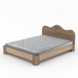 Двоспальне ліжко Компаніт МДФ-150 2058х1500х900 мм дуб-сонома
