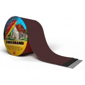 Лента самоклеющаяся NICOBAND 7,5 см 3 м коричневая