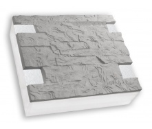 Термопанель Полифасад ПСБ-С-35-100 серый цемент 19-20 кг/м3 500х250 мм