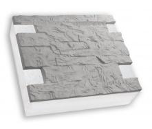 Термопанель Полифасад ПСБ-С-35-100 серый цемент 15-17 кг/м3 500х500 мм