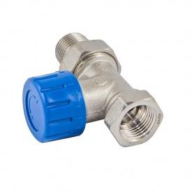 Термостатичний клапан Schlosser нікельований прямий DN 15 GZ 1/2xGW1/2