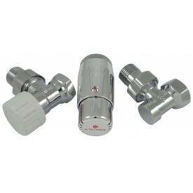 Комплект термостатический Schlosser standart mini хром угловой