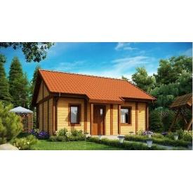 Будинок дерев'яний з профільованого бруса 6х8 м