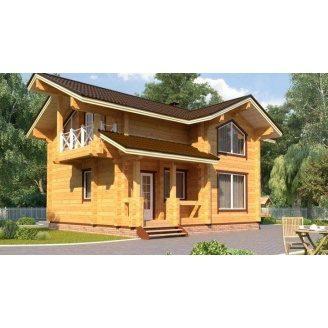 Дом из профилированного бруса 7х8 м