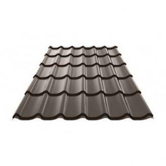 Металлочерепица Ruukki Monterrey Polyester matt 0,45 мм Темно коричневый