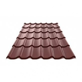 Металлочерепица Ruukki Monterrey Polyester matt 0,45 мм Шоколадный