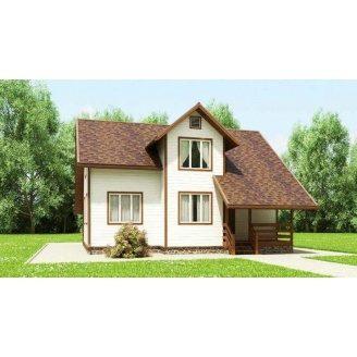 Дом из профилированного бруса 10х8 м