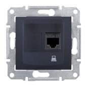 Розетка компьютерная Schneider Electric Sedna SDN4500170 RJ45 кат.5е STP графит