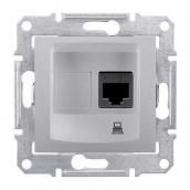 Розетка компьютерная Schneider Electric Sedna SDN4300160 RJ45 кат.5е UTP алюминий