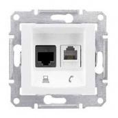 Розетка Schneider Electric Sedna SDN5200121 RJ11+RJ45 кат.6е UTP белый