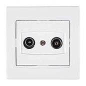 Розетка TV/R-SAT Schneider Electric Anya AYA3400221 прохідна із затуханням 81,5х81,5х40 мм білий