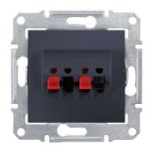 Аудіорозетка Schneider Electric Sedna SDN5400170 71х71х44,5 мм графіт