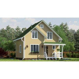 Дом деревяный из профилированного бруса 8х8 м