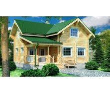 Деревяные дома из оцилиндрованного бревна 8х9 м