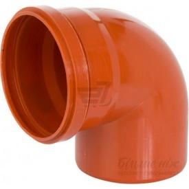 Коліно для каналізаційних труб 110 мм