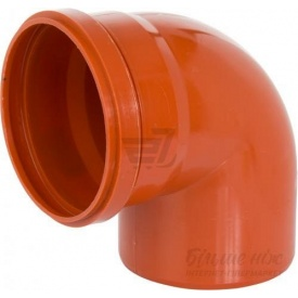 Колено для канализационных труб 110 мм