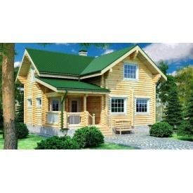 Дерев'яні будинки з оциліндрованої колоди 8х9 м