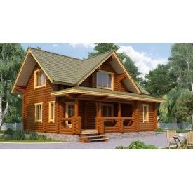 Будинок дерев'яний з оциліндрованої колоди 8х9 м