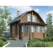 Строительство деревянного дома из оцилиндрованного бревна 7х10 м