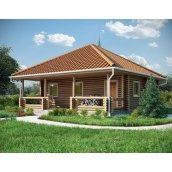 Строительство дома из оцилиндрованного бревна 8х7 м