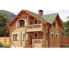 Дом деревяный из оцилиндрованного бревна 7х9 м