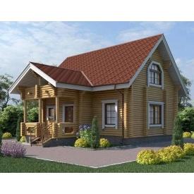 Будинок деревяний з оциліндрованої колоди 9х7 м