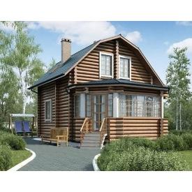 Будівництво дерев'яного будинку з оцилиндрованного колоди 7х10 м