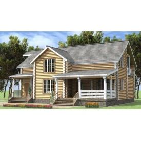 Будинок дерев'яний з оциліндрованої колоди 13х16 м