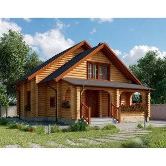 Дом из оцилиндрованного бревна 10х9 м