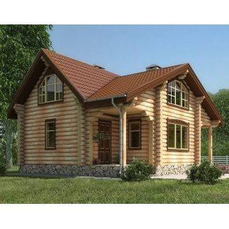 Дерев'яний будинок з оциліндрованої колоди 8х11 м