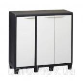 Шкаф низкий трехдверный Factory S черный/молочно-белый Toomax