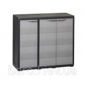 Шкаф низкий трехдверный Elegance S черный/тепло-серый Toomax