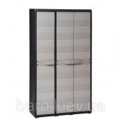 Шкаф трехдверный Elegance S черный/серый Toomax