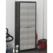 Шкаф двухдверный с полочками Elegance S черный/тепло-серый Toomax