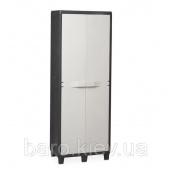 Шкаф двухдверный Factory S черный/молочно-белый Toomax