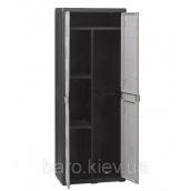 Шкаф двухдверный Elegance S черный/тепло-серый Toomax