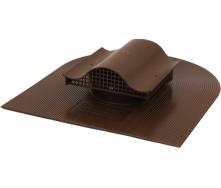 Аератор для покрівлі з бітумної черепиці Polivent KTV полімер 110х530х465 мм коричневий