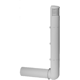 Цокольний дефлектор Polivent полімер 128х440х740 мм білий