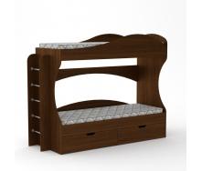 Ліжко Компаніт Бріз 74х167х209 горіх