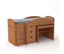 Кровать Компанит Универсал 89х106х194 венге