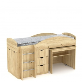 Кровать Компанит Универсал 89х106х194 дуб санома