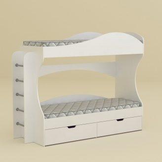 Кровать Компанит Бриз 74х167х209 нимфея альба