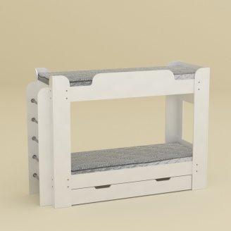 Двухъярусная кровать Компанит Твикс 77х152х210 нимфея альба