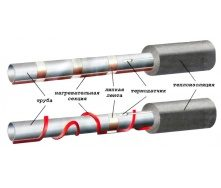 Нагревательный кабель 31 м Woks-10 для обогрева труб